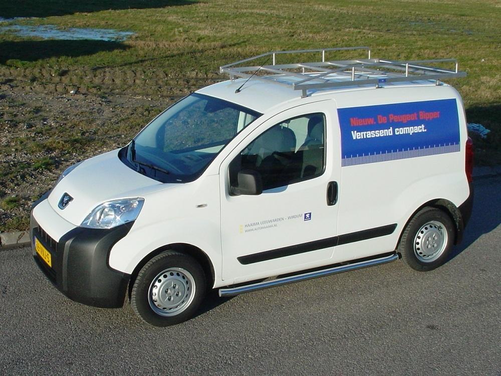 Sidebars RVS Peugeot Bipper Hoogglans