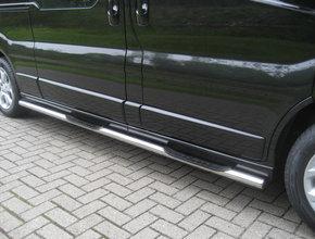 Sidebars RVS Renault Trafic vanaf 2014 L1 Hoogglans 3 steps