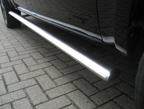 Sidebars RVS Volkswagen Amarok tot 2016 L2 Hoogglans Ovaal