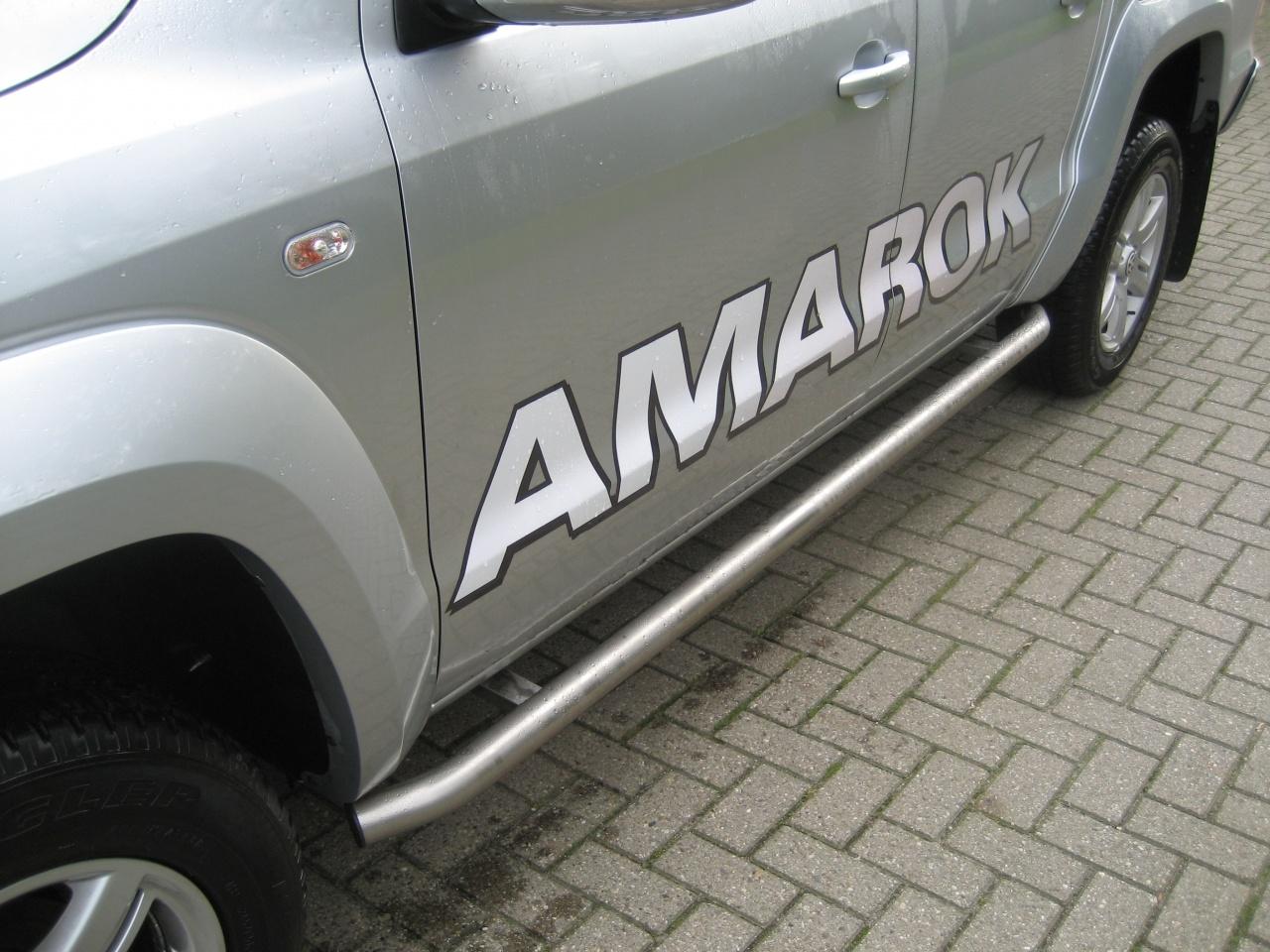Sidebars RVS Volkswagen Amarok V6 vanaf 2016 L2 Hoogglans