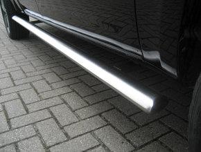 Volkswagen Sidebars RVS Volkswagen Amarok V6 vanaf 2016 L2 Hoogglans Ovaal