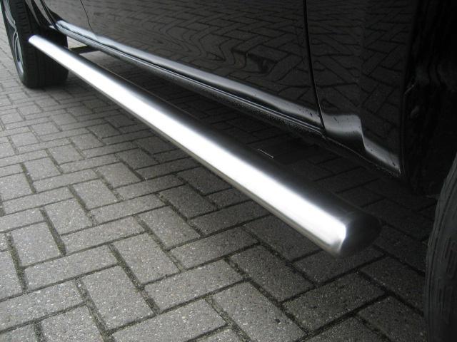 Sidebars RVS Volkswagen Amarok V6 vanaf 2016 L2 Hoogglans Ovaal