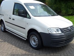 Sidebars RVS Volkswagen Caddy Maxi vanaf 2010 L2 Hoogglans