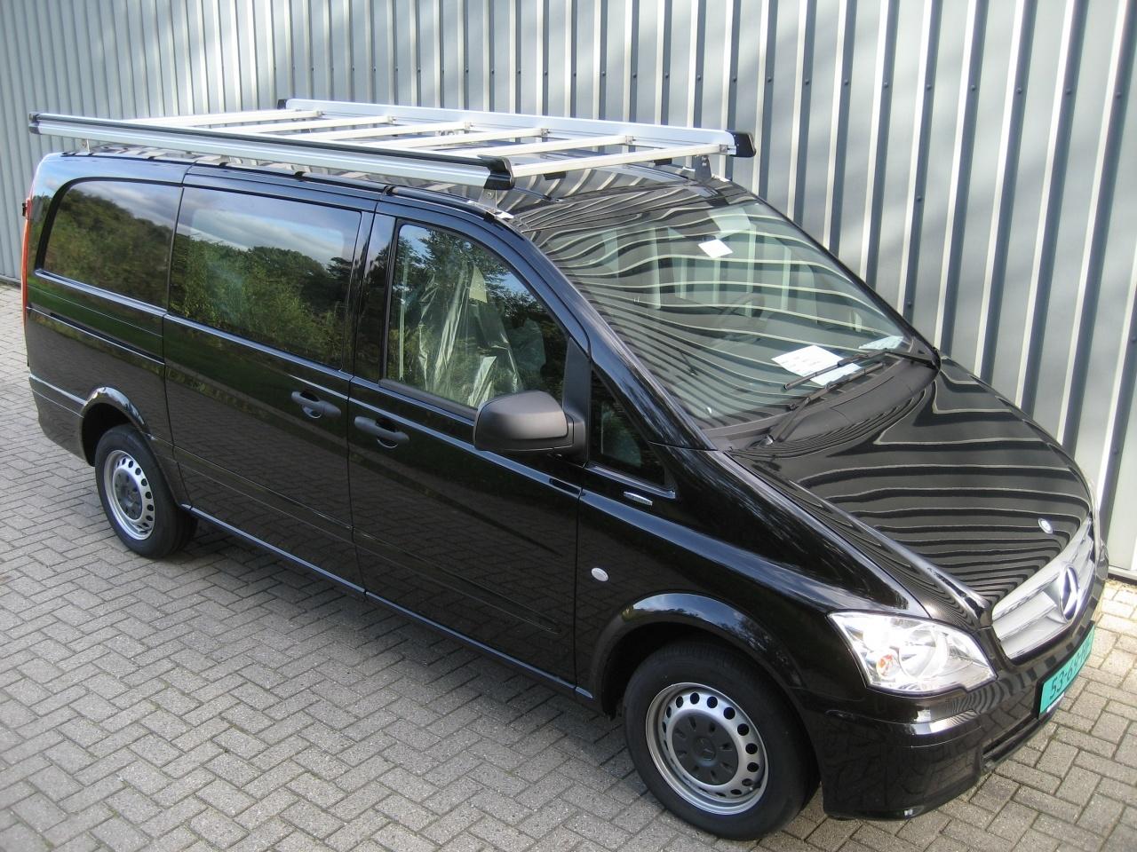 Aluminium imperiaal Mercedes Vito 2004 - 2014 L1 H1 met achterdeuren inclusief opsteekrol