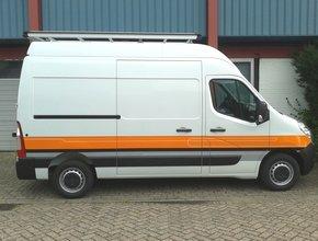 Aluminium imperiaal Opel Movano vanaf 2010 L1 H1 inclusief opsteekrol