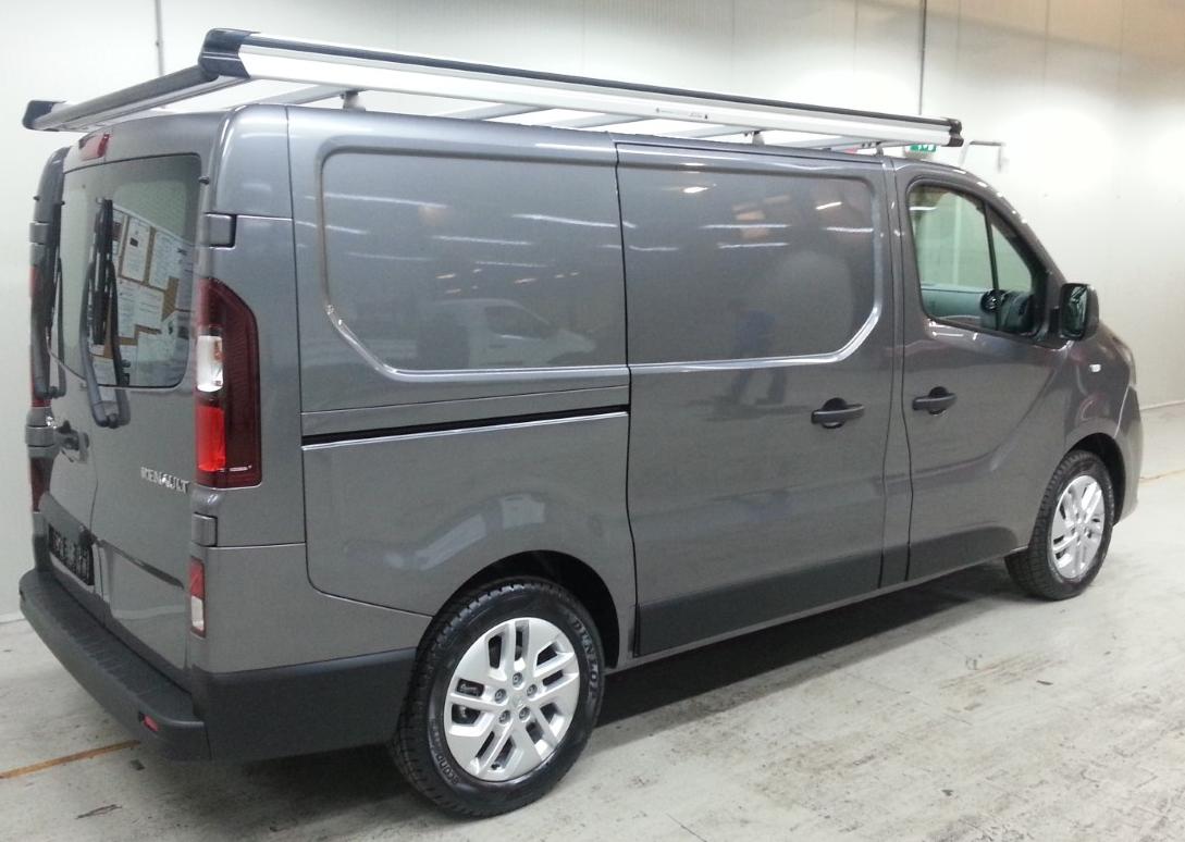 Aluminium imperiaal Renault Trafic vanaf 2014 L1 H1 met achterdeuren inclusief opsteekrol