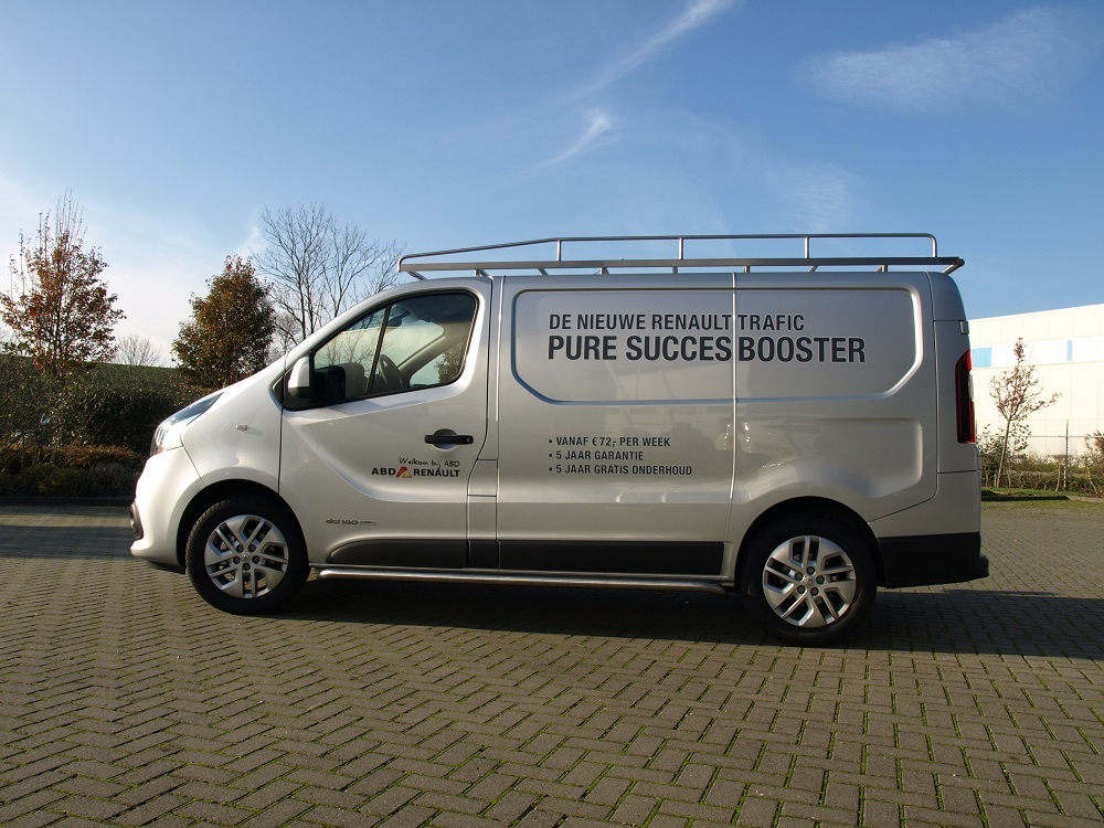 Imperiaal RVS Opel Vivaro tot 2014 L1 H1 met achterdeuren inclusief opsteekrol