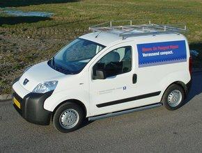 Imperiaal RVS Peugeot Bipper vanaf 2008 uitvoering met achterdeuren inclusief opsteekrol