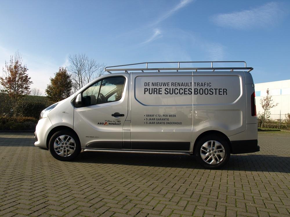 Imperiaal RVS Renault Trafic tot 2014 L1 H1 uitvoering met achterdeuren