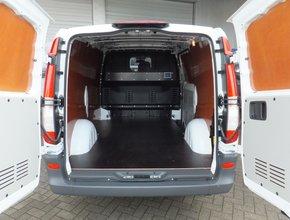 Laadvloer 12mm Mercedes Vito tot 2014 lengte 1 met sjorooggaten en deksels - Enkele schuifdeur