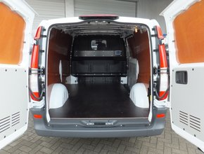 Mercedes Laadvloer 12mm Mercedes Vito tot 2014 lengte 2 met sjorooggaten en deksels - Enkele schuifdeur