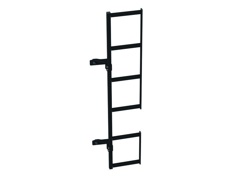 Zwarte duplex ladder °180 op deurscharnier Opel Vivaro tot 2014 H2 Rechterzijde