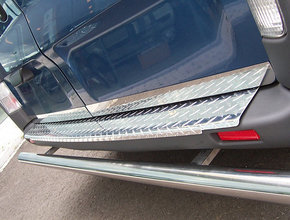 Opel Bumperpaneel aluminium Opel Vivaro tot 2014 uitvoering met luxe grove traan