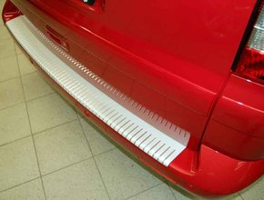 Bumperpaneel aluminium Volkswagen T5 uitvoering met geanodiseerd ribbelmotief
