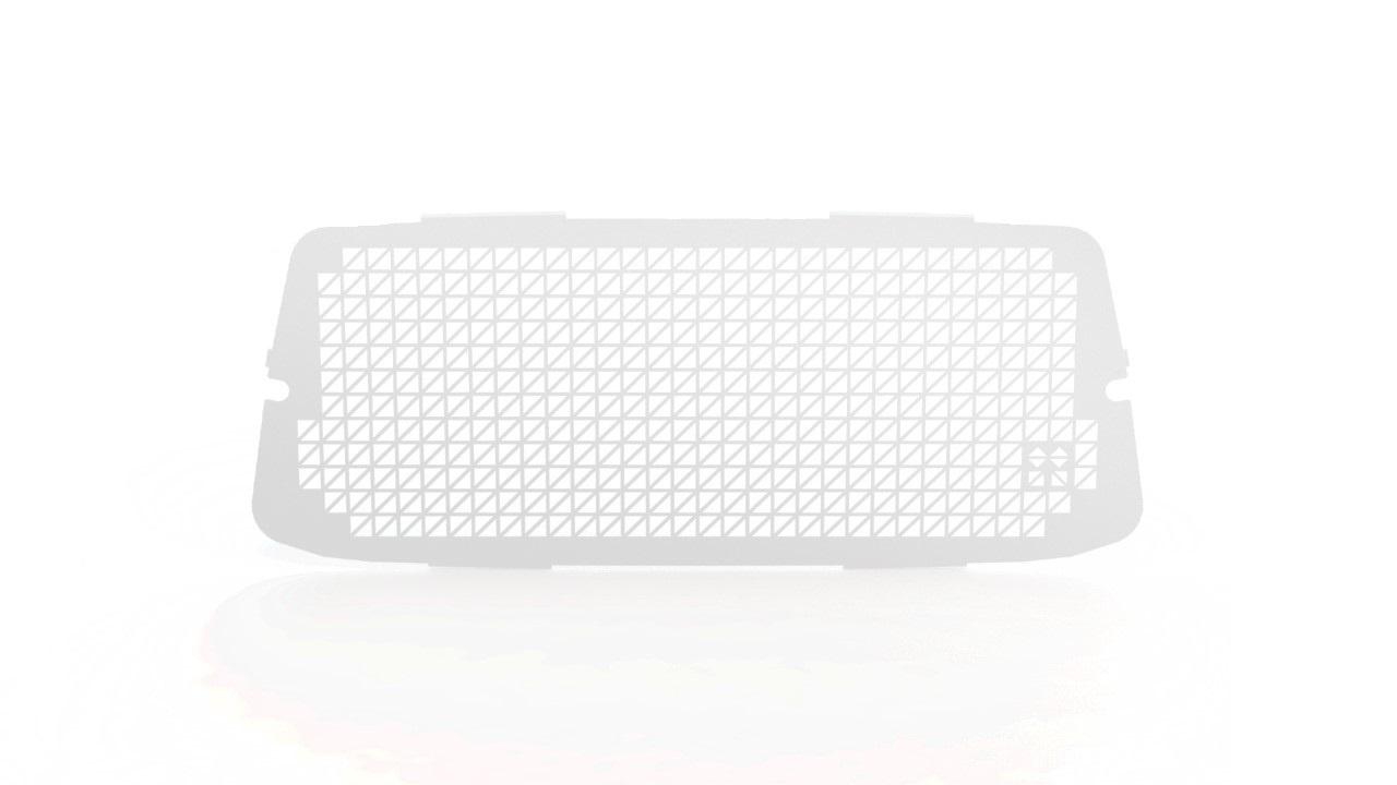 Ruitbeveiliging Fiat Doblo vanaf 2012 uitvoering met zijdeur - Wit
