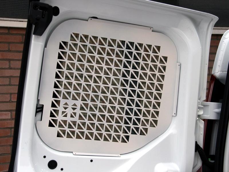Ruitbeveiliging Opel Vivaro vanaf 2014 uitvoering met achterdeuren - Wit