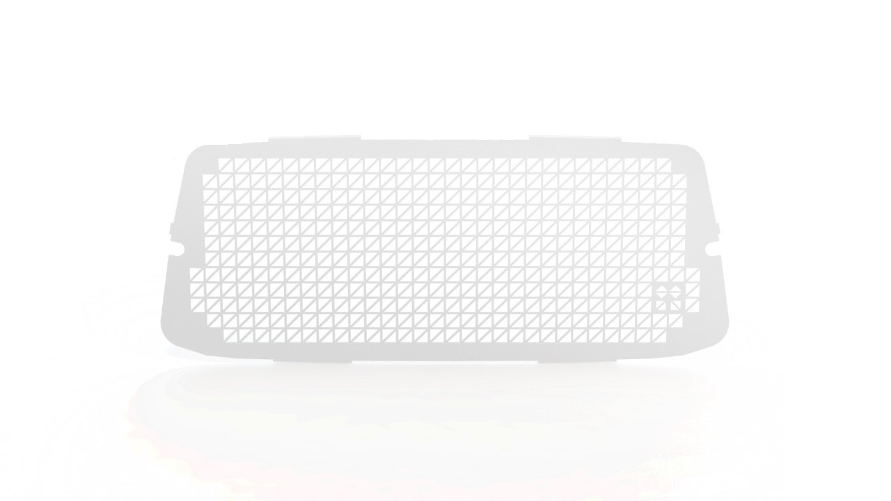 Ruitbeveiliging Opel Vivaro vanaf 2014 uitvoering met zijdeur - Wit
