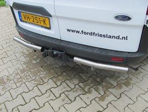 Rearbar RVS geborsteld Ford Transit Custom vanaf 2012 uitvoering met originele trekhaak
