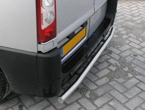 Rearbar RVS geborsteld Ford Transit Custom vanaf 2012 uitvoering zonder trekhaak