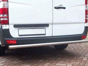 Rearbar RVS geborsteld Ford Transit vanaf 2014 rechte uitvoering zonder trekhaak