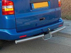 Rearbar RVS geborsteld Mercedes Vito tot 2014 uitvoering met trekhaak