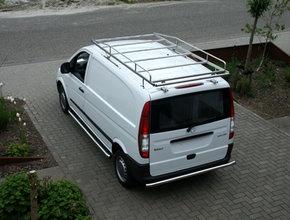 Rearbar RVS geborsteld Mercedes Vito tot 2014 uitvoering zonder trekhaak