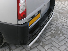 Rearbar RVS geborsteld Nissan NV400 uitvoering zonder trekhaak