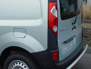 Rearbar RVS geborsteld Renault Kangoo vanaf 2008 uitvoering zonder trekhaak