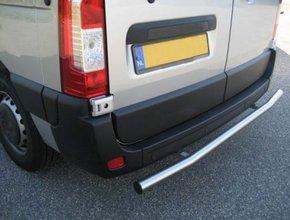Rearbar RVS geborsteld Renault Master vanaf 2010 uitvoering zonder trekhaak