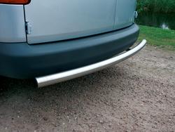 Rearbar RVS geborsteld Volkswagen T6 uitvoering zonder trekhhaak