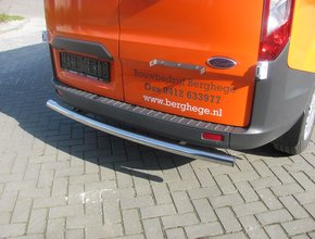 Rearbar RVS gepolijst Ford Transit Custom vanaf 2012 uitvoering zonder trekhaak