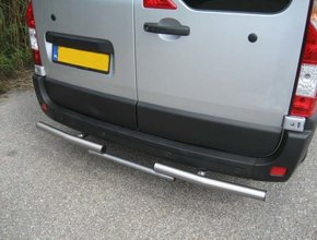 Rearbar RVS gepolijst Peugeot Boxer vanaf 2006 uitvoering met Bosal trekhaak