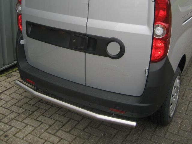 Rearbar RVS geborsteld Opel Combo vanaf 2019 L1 uitvoering zonder trekhaak