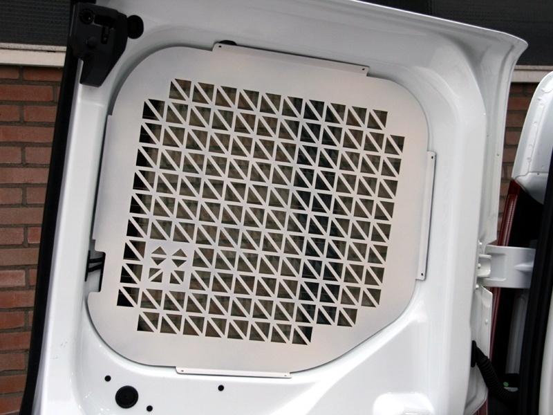 Ruitbeveiliging Peugeot Partner vanaf 2019 uitvoering met achterdeuren - Wit