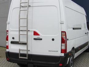 Fiat RVS ladder 180 graden montage op deur Fiat Ducato vanaf 2006 H1 Linkerzijde