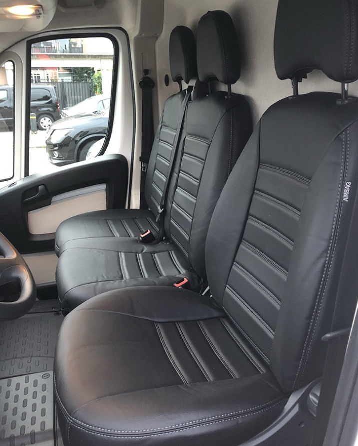 Stoelhoezen Renault Master stoel/duobank met deelbare rugleuning