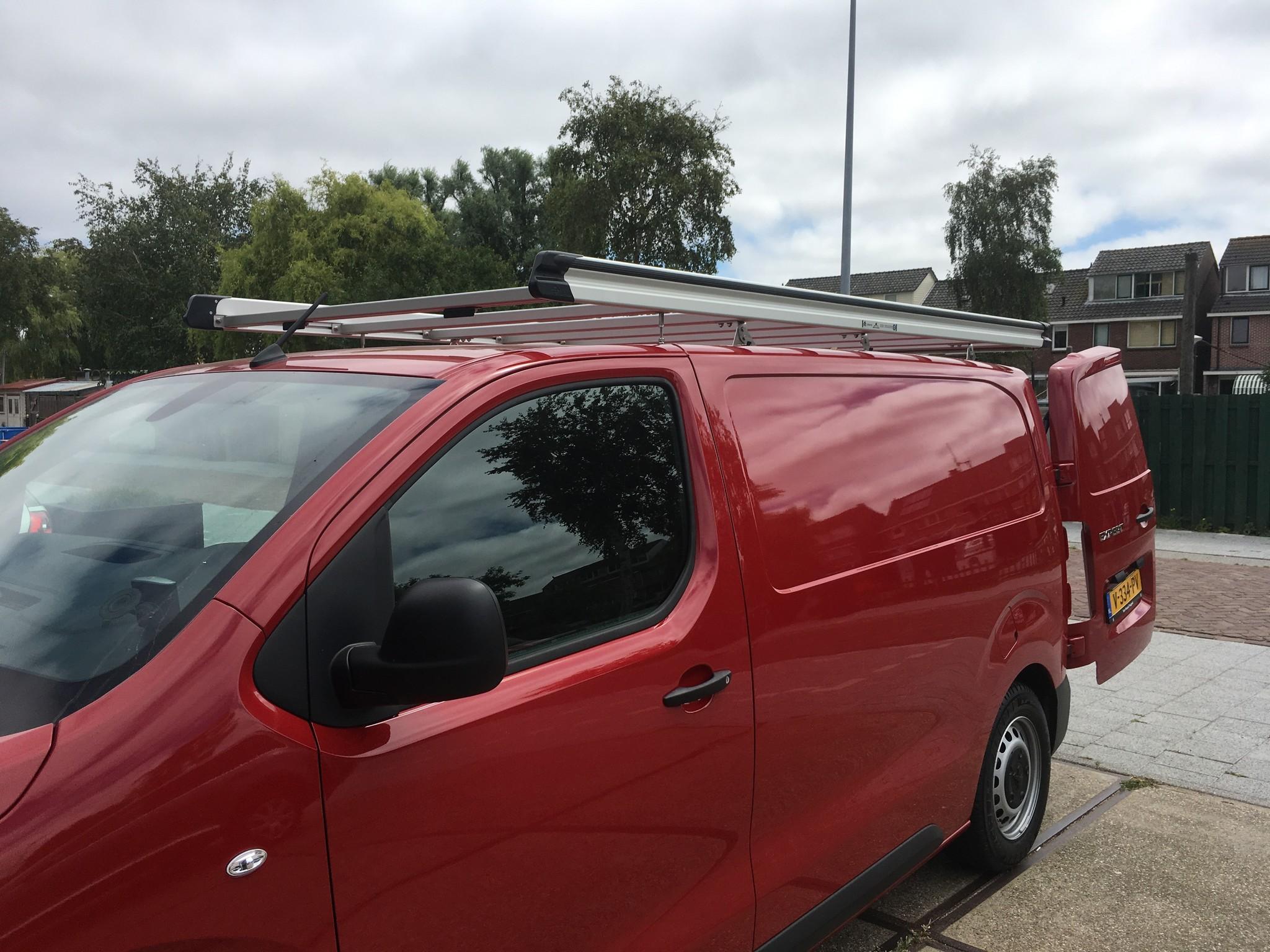 Aluminium imperiaal Opel Vivaro vanaf 2019 Compact L1 H1 met achterdeuren inclusief opsteekrol