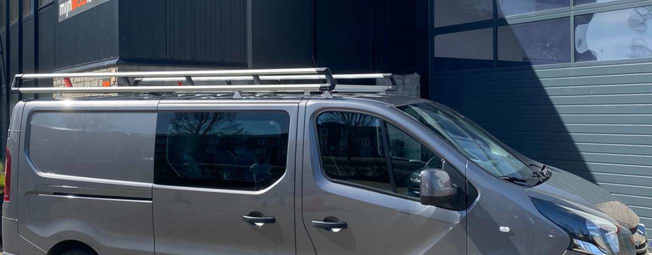 Aluminium imperiaal XTRA Renault Trafic vanaf 2014 L1 H1 inclusief spoiler en opsteekrol