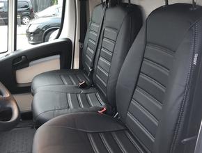 Renault Stoelhoezen Renault Master stoel/duobank met deelbare rugleuning  en duo zit