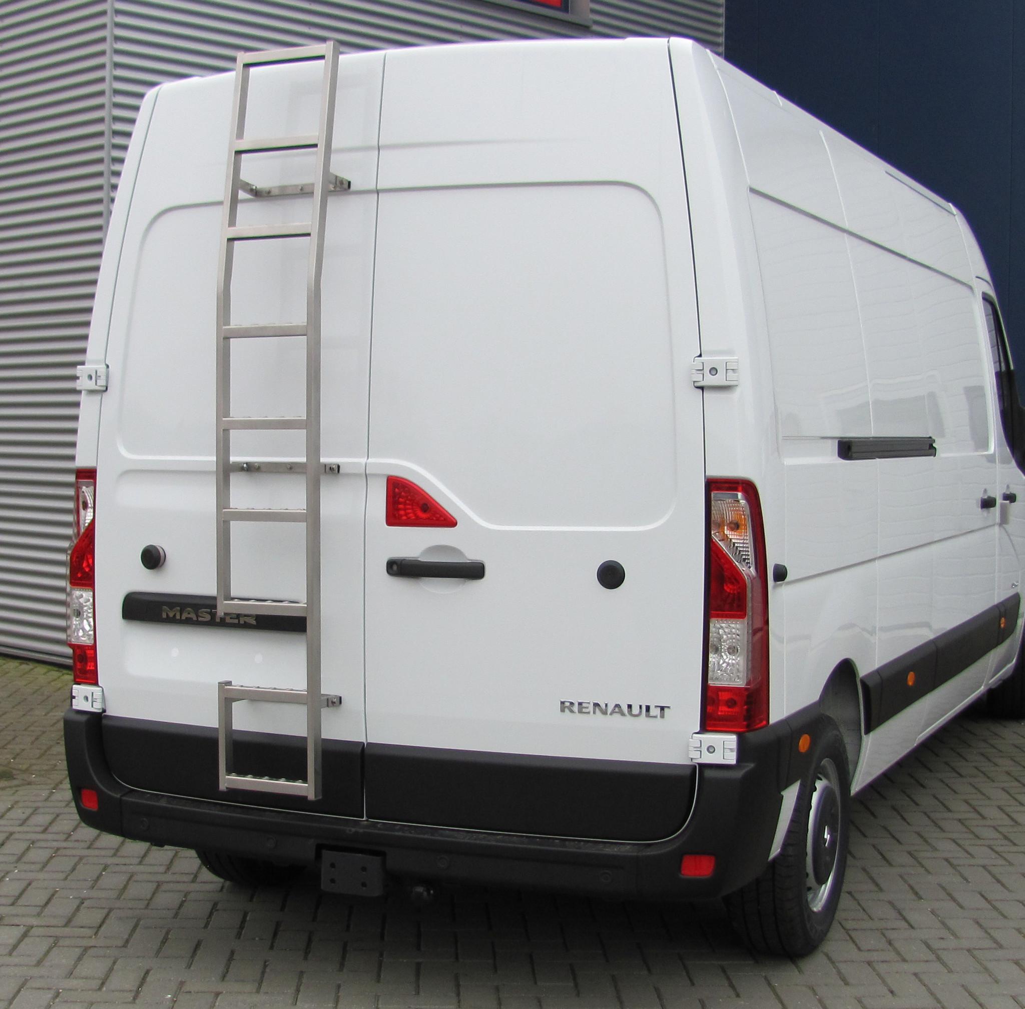 RVS deurladder 270 graden montage op deur Opel Movano vanaf 2010 H2