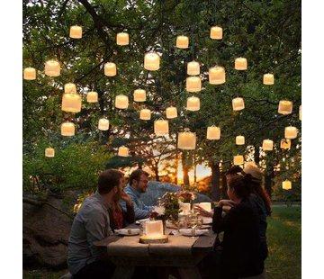 Opblaasbare lamp op zonne-energie