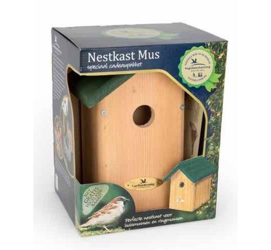 Nestkast voor de huismus