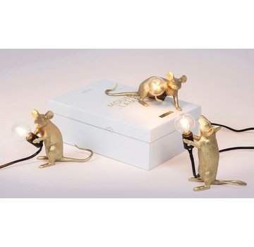 Seletti Mouse Lamp Gold
