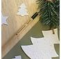 Potlood dat uitgroeit tot een kerstboom