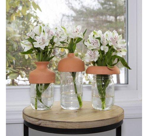 Kikkerland Terra Cotta Vase Tops