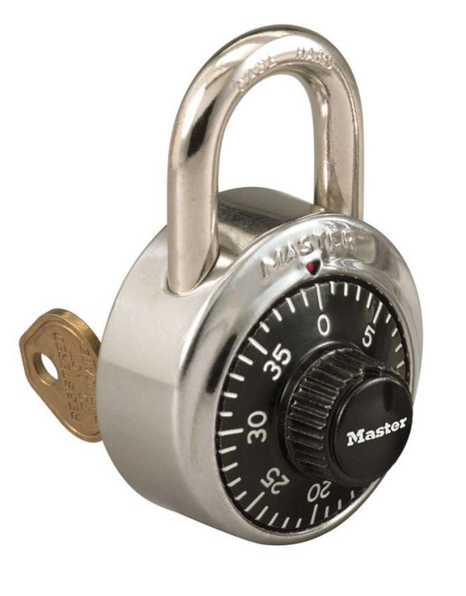 MasterLock Vorhängeschloss Zahlenschloss mit Hauptschlüssel - 10 St. + 1 Hauptschlüssel