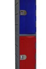 Extreme II Kunststoff Fächerschrank - E-II-2 - Zylinderschloss