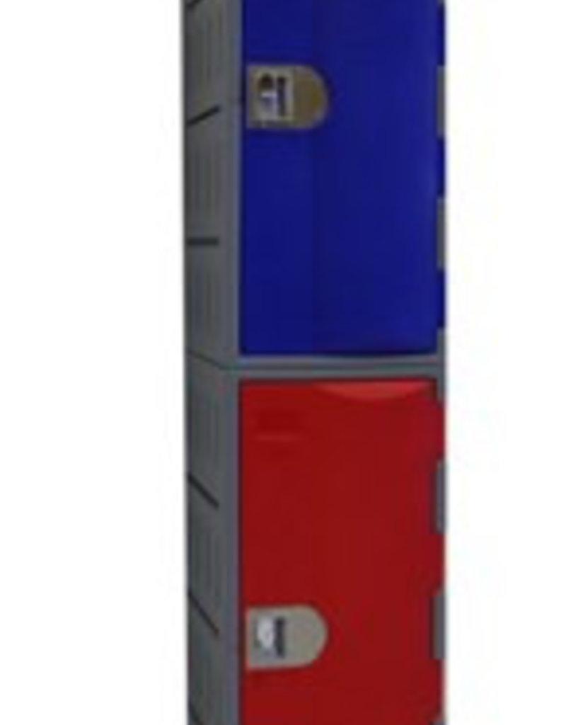 Kunststoff Fächerschrank - E-II-2 - Zylinderschloss
