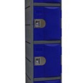 Kunststoff Fächerschrank - E-II-4 - blau