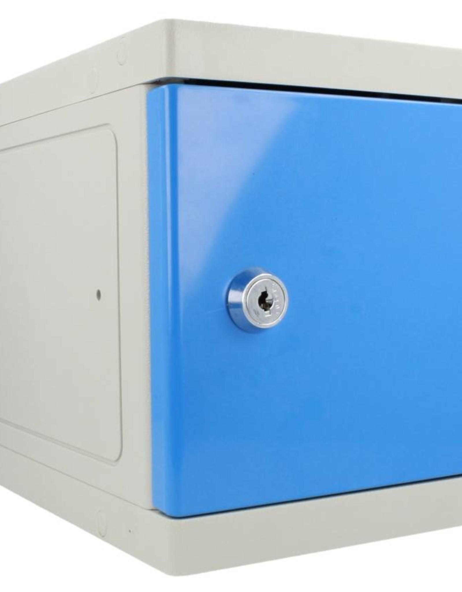 o27 Kunststoff Mini Schliessfach - grau/blau